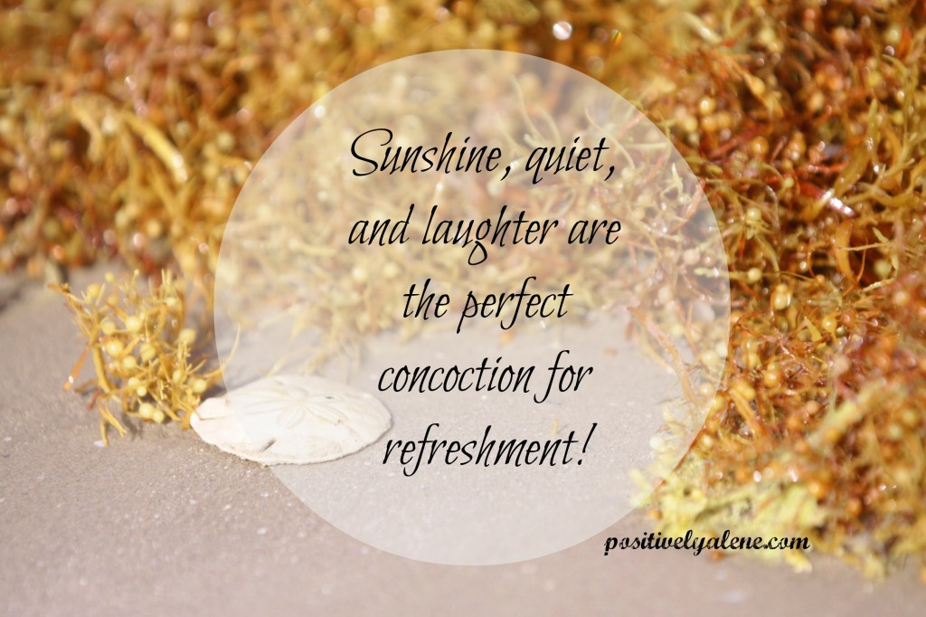 I'm intentionally slowing down. Maybe you need to too? This is what I'm learning -- sunshine, quiet, and laughter are the perfect concoction for refreshment.